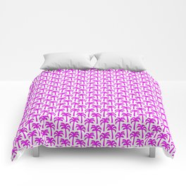Pink Palm Trees Comforters