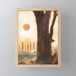 Hidden Framed Mini Art Print