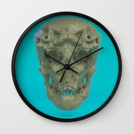 Skull Coral Reef Wall Clock
