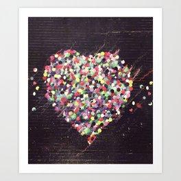 Colored Heart Art Print