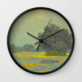 Granville Redmond (1871-1935) Landscape Flower Field Wall Clock