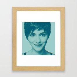 She smiles Framed Art Print