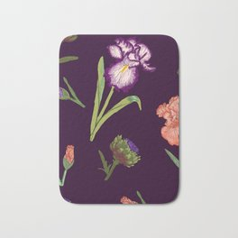 Ramona's Iris Garden Bath Mat