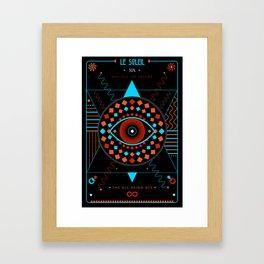 TAROT. XIX- Le Soleil Framed Art Print