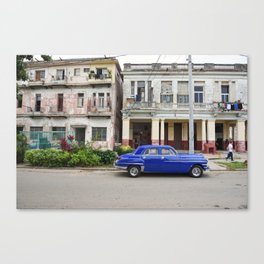 Havana Cuba Cuban Vintage Car Architecture Vedado Urban Street Photography Canvas Print