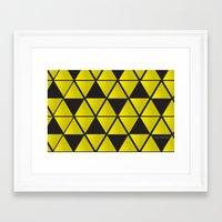 triforce Framed Art Prints featuring Triforce  by Stephanie Williams