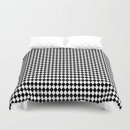 Micro Black & White Mini Diamond Check Board Pattern Duvet Cover