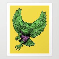 the incredible hawk Art Print