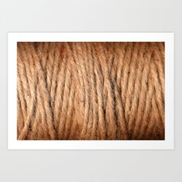 Brown Yarn Threads Art Print
