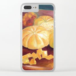 Composition with pumpkins Clear iPhone Case