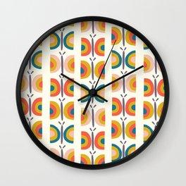 Retro Butterflies Wall Clock