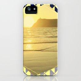 Port Erin - yellow hexagon iPhone Case