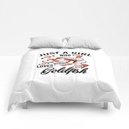 Just A Girl Who Loves Loves Goldfish Gift Women Comforters