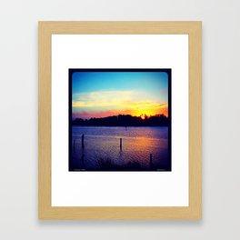 Sunset Over Wallis Lake Framed Art Print