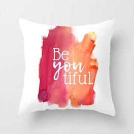 BeYOUtiful Watercolor Print Throw Pillow