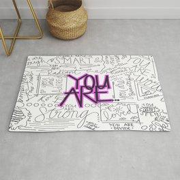 You Are - Fuchsia Rug