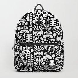 MCM Scandi Flowers White Backpack