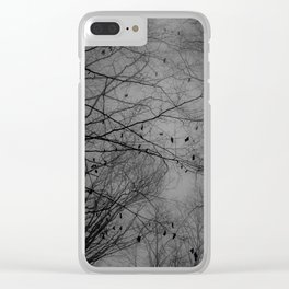 Tree of black Clear iPhone Case