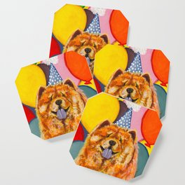 Chow Chow with Balloons Coaster