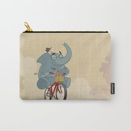 Mr. Elephant & Mr. Mouse 'Bicycle' Carry-All Pouch