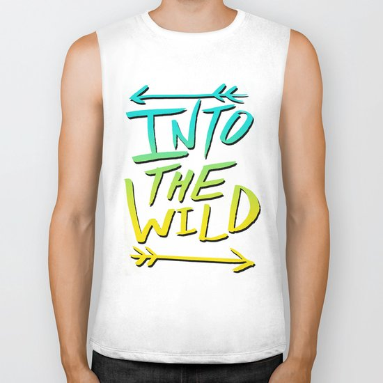 Into The Wild: Typography Biker Tank