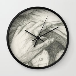 Thinking In My Car Wall Clock