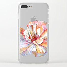 The Vintage Flower of Serenity - Light Version Clear iPhone Case