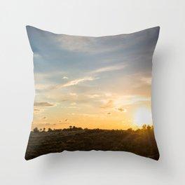 Ocaso en la marisma Throw Pillow
