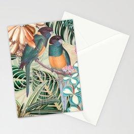 Vintage & Shabby Chic - Sepia Tropical Bird Garden Stationery Cards