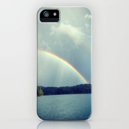 Rainbow Showers iPhone Case