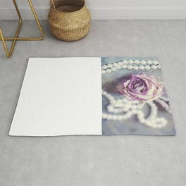 Pearls and Rose Rug