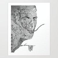 salvador dali Art Prints featuring Salvador Dali by Ina Spasova puzzle