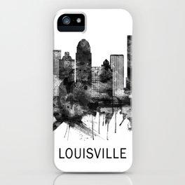 Louisville Kentucky Skyline BW iPhone Case