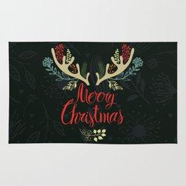 Green Deer horn Christmas Event Design Rug