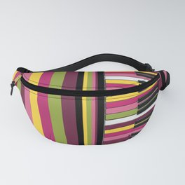 Colorful Retro Piano Keyboard with Gelato Stripes Artwork  Fanny Pack