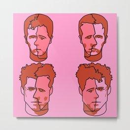 Where is my mind? Pink Metal Print