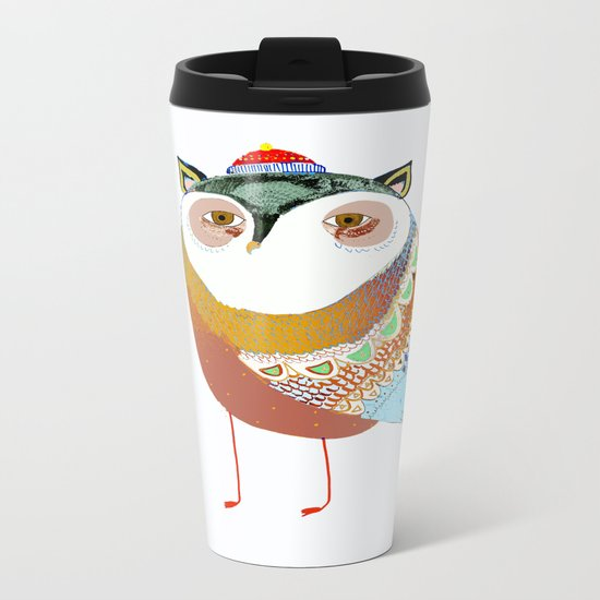 The Sweet Owl Metal Travel Mug