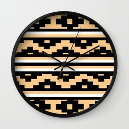 Etnico beige version Wall Clock