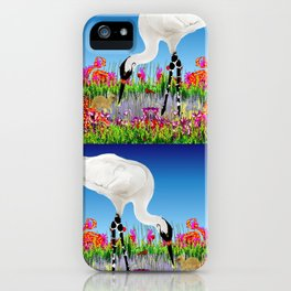whooping crane iPhone Case