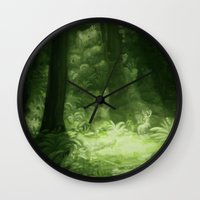 giants Wall Clocks featuring Among Giants by Timm Sewell