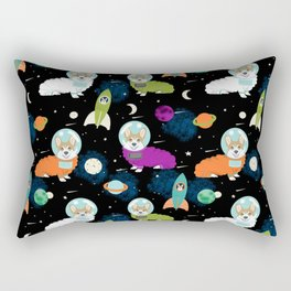 Welsh Corgi outer space cadet space camp rockets astronaut dog breed corgis gifts Rectangular Pillow