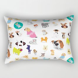 Pattern of dogs, adorable and friendly animal. Rectangular Pillow