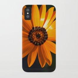 Vibrant Orange Flower iPhone Case