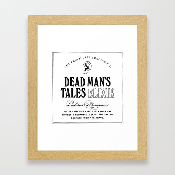 Dead Man's Tales Elixir Framed Art Print