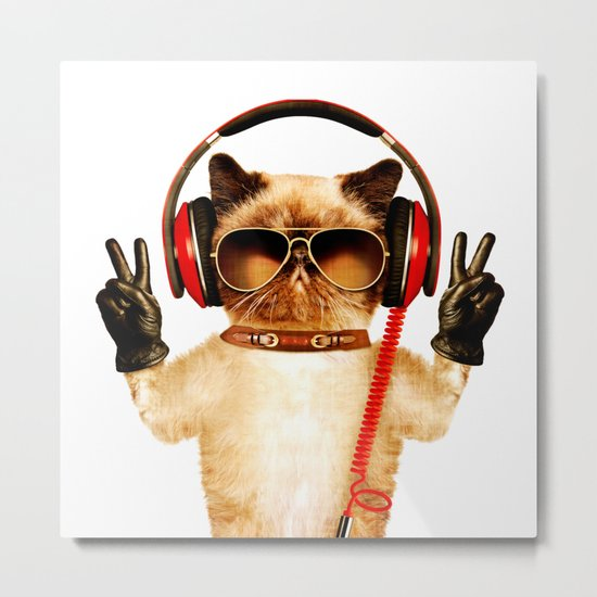 Chill Cat Metal Print