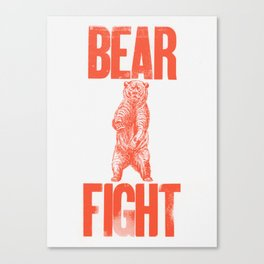 Bear Fight Canvas Print