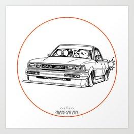 Crazy Car Art 0209 Art Print