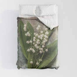 Beautiful Lily Of The Valley Comforters