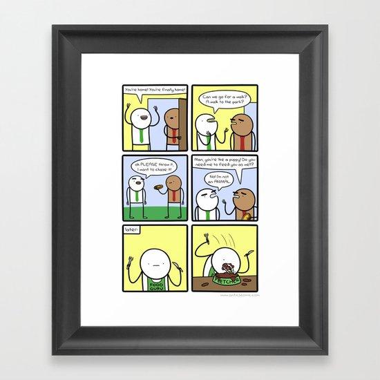 Antics #290 - animal instinct Framed Art Print