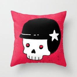 skull dude Throw Pillow